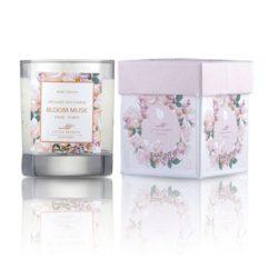 Eνυδατικό, αρωματικό κερί με άρωμα white musk- Bloom musk soya candle