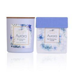 Ενυδατικό, αρωματικό κερί σόγιας με άρωμα βανίλιας, κέδρο, κανέλα - Aurora candle